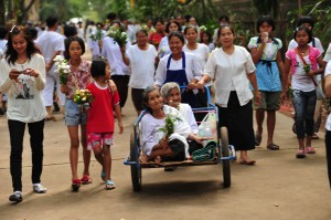 Old Women Being Carried at Wat Pah Pong