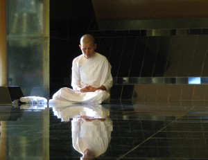 Mae Chi Meditating at Wat Nong Pah Pong