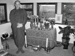 Suriyo Bhikkhu at Hartridge Monastery, Devon, UK