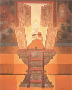 Buddhist Novice Monk Teaching