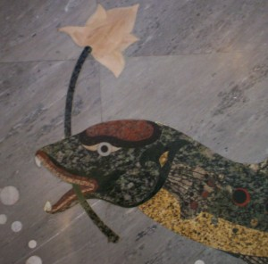 Inlaid Marble at Wat Luang Por Sothorn