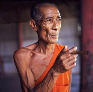 Old Buddhist Monk. Chiang Rai, Thailand