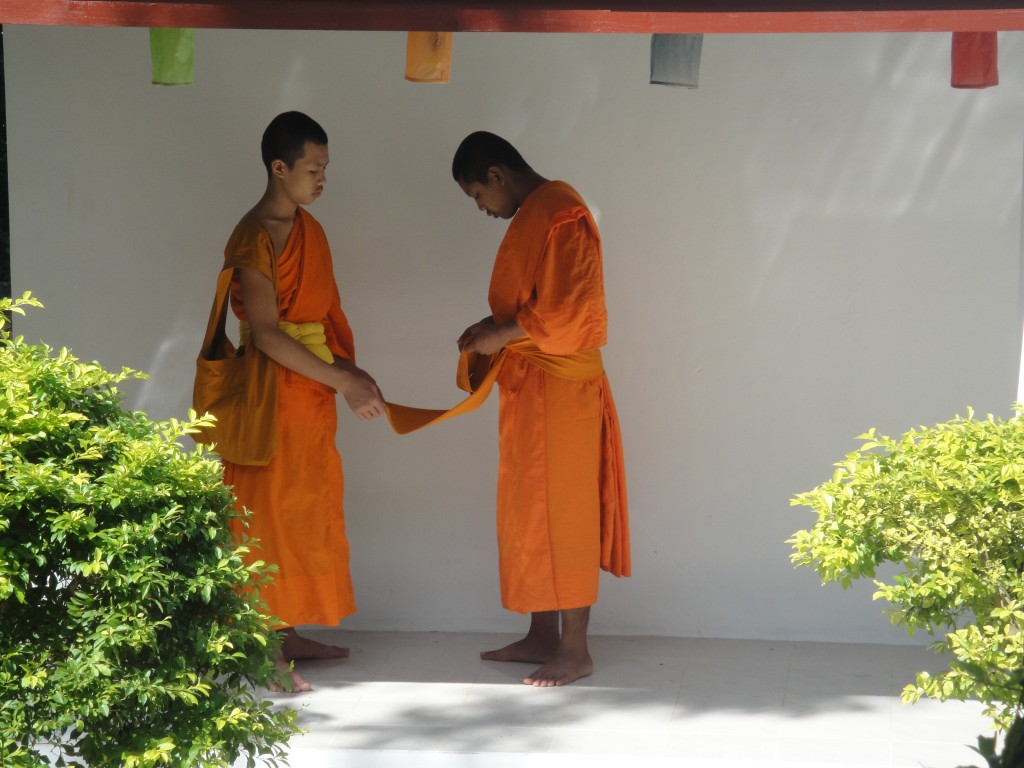 Monks at Wat Pa Phai, Luang Prabang