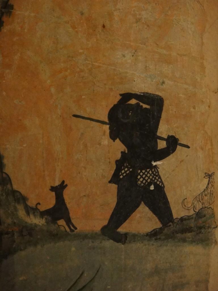 Wall Painting at Wat Pa Houak, Luang Prabang