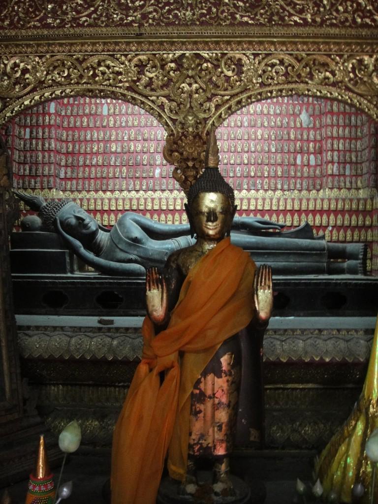 Reclining Buddha Shrine in the Red Chapel, Wat Xieng Thong, Luang Prabang