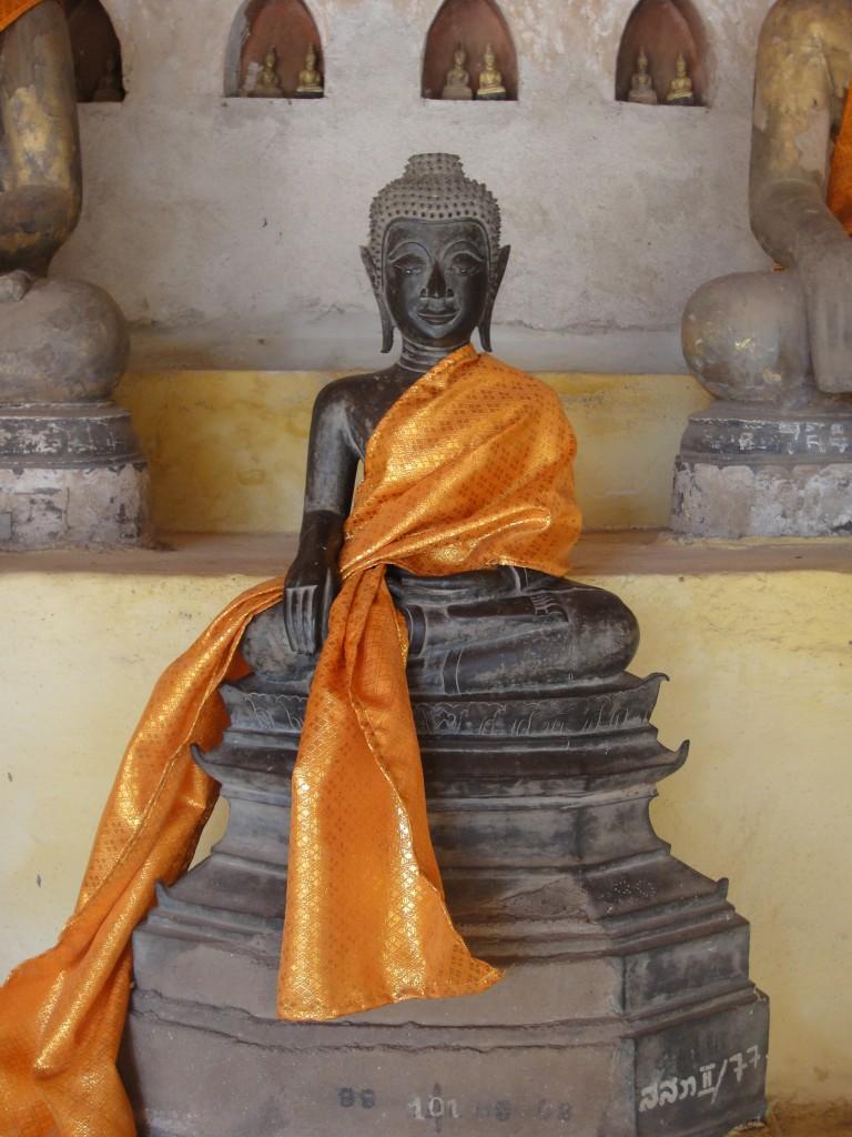 Smiling Buddha at Wat Sisaket, Vientiane
