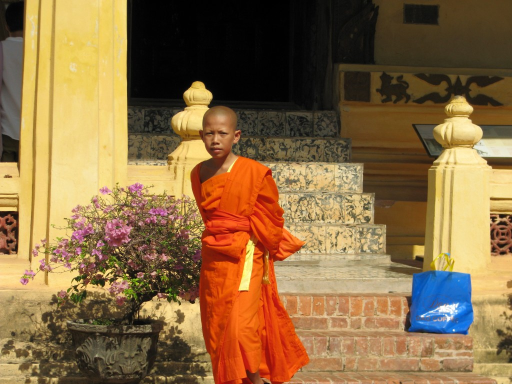 Novice Monk at Wat Sisaket, Vientiane