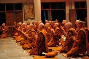 Monks Chanting at Wat Pah Nanachat