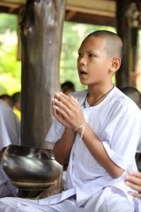 Buddhist Ordination Candidate Chanting