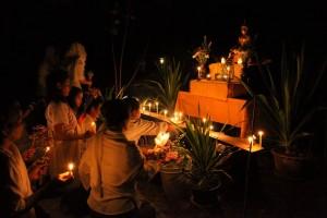 Evening Vigil at Wat Pah Boon Lawm